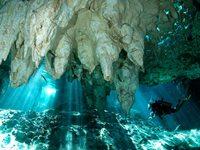 Подводные пещеры Мексики